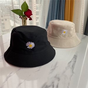 Summer Daisies Bucket Hat Women Men Cotton Fashion Boy Cap Girls Double-Sided Daisy Sun Floral Hat