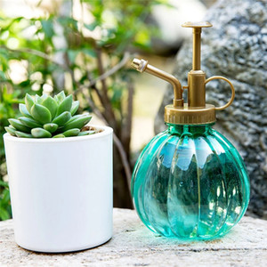 Plant Mister Flower Water Spray Bottle Can Pot Vintage Style Decorative Watering Can Pot with Top Pump for Indoor Potted Plants