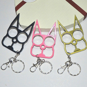 Moda Carino Cartoon Cat Pendant Key Anelli Kitten Cat Key Catena Shake Testa Bell Auto Borsa Portachiavi Creativo