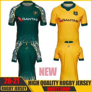 Neue beste Qualität 2020 2021 Australien Wallabies Jersey 20 21 Rugby Jerseys National Rugby League Shirt Australian Wallabies Hemden S-3XL