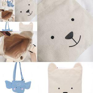 canvas Top cute Tide cute cartoon children's shoulder bag Korean version of the mini bag small elephant animal phone Messenger bag
