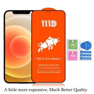 جودة عالية 111D غطاء كامل الزجاج المقسى لفون 12 ميني برو ماكس فون 11 سامسونج note20 a21 ثانية a11s a71 a41 a41 a31 حامي الشاشة