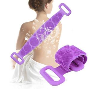 Magie silicone Brosses Serviettes de bain Frotter Retour boue Peeling Massage Douche Scrubber peau propre douche prolongée Brosses IIA901