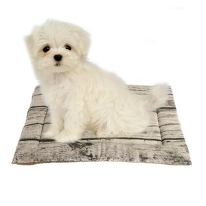 Pet Mat Tree Pattern Small Large Cat Dog Puppy Cushion Fleece Soft Blanket Bed