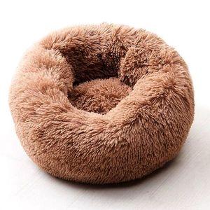 Willstar Собачья кровать зимние теплые длинные плюшевые спальные кровати Solid Color мягкие домашние собаки кота кота Cat Cushion Dropshipping W0107