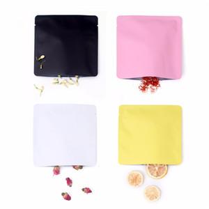 15x15 cm Differet Color Bianco / Giallo / Rosa / Nero Sigillabile Sigillabile Sigillabile Pianta piatta Busta piatta Apri Top Pacchetto Borsa Vacuum Pouch OWC4136
