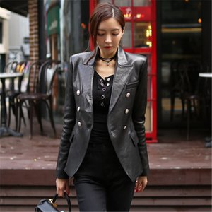 Fashion New Women's Spring Autumn Pu Leather Jacket OL Women Casual office Slim Soft Jacket Female Coat Top Basic Streetwear X1214