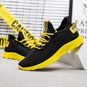 LOOZYKIT Hombres zapatillas de deporte casuales no deslizante Hombres vulcanizar calzado transpirable masculino acoplamiento del aire de encaje hasta resistentes al desgaste zapatos tenis