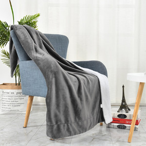 Autumn Winter Home Blanket Stylish Letter Pashmina Portable Warm Sofa Blankets Size 150*200 cm Blue Scarves Shawl for Adults Kids
