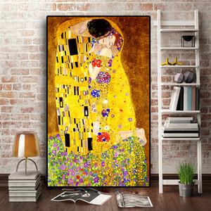 Классический художник Gustav Klimt Kiss Абстрактный 5D Алмазная живопись Современная мозаика Плакат Алмазная вышивка Украшение дома 201202