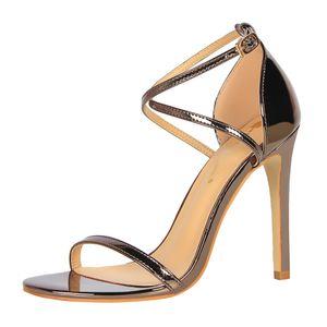 Sexy nightclub fashion will see stiletto heels hollow cross-section female sandals g0049 high heels. UF64