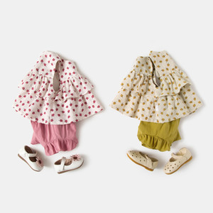 Baby summer suit girl 2020 new 0-4 baby Korean fashion dress girl summer two piece set