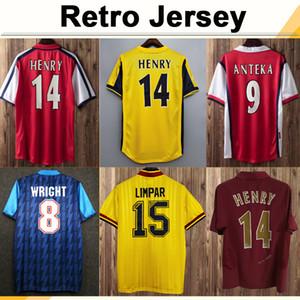 02 05 Henry Bergkamp V. Persie Mens Retro Soccer Jerseys 94 97 Vieira Merson Adams Casa Away 3rd Camicia da calcio Camicia a manica lunga a maniche lunghe