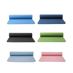 Yoga Mat Tasteless Non Slip Motion Cushions Body Building Pad Multi Color High Density Position Line Exercise Hot Sale 36ds O2