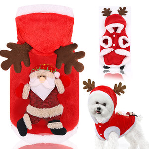 Pet clothes autumn winter flannel warm festive dog clothes cat elk Christmas clothes new year old man T3I51461