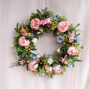 Sıcak satış 55 cm yüksek kaliteli yapay çiçek çelenk kapı duvar pencere için Noel ev düğün bahçe dekorasyon DHE3397