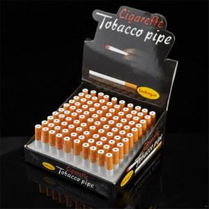 Табачная труба сигарета Алюминиевый сплав длина 55/78 мм металлическая сигаретная труба коробка из 100 труб сигареты оптом