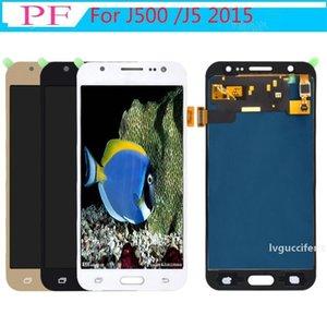 Parlaklık Ayarlanabilir TFT Samsung Galaxy J5 / J500F J500 / J5M / J5 2015 Ekran Dokunmatik Ekran Digitizer Meclisi LCD Değiştirme