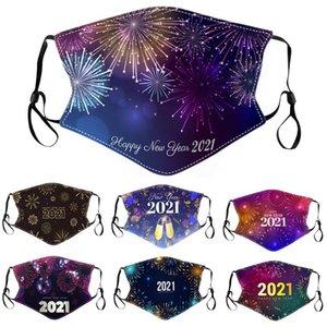 2021 Speciale anno nuovo stampato maschera in cotone inverno caldo e antipolvere maschera viso lavabile maschera per adulti