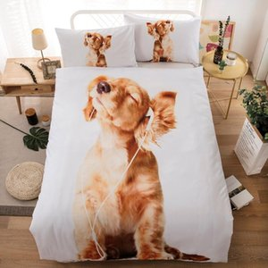 Children Fashion Cute Animals Pattern Bedding Set 2 3Pcs Comforter Cover with Pillowcase US AU UK 11 Size(no Filling)