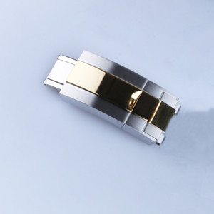 16mm x 9mm Watch Band Toka Dağıtım Toka Orta Altın + Gümüş Iki Tonlu Yüksek Kalite Paslanmaz Çelik
