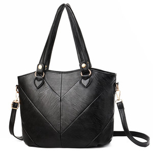 Fashion Women Handbags Tassel PU Leather Totes Bag Top-handle Embroidery Crossbody Bag Shoulder Bag Lady Hand Bags Black Color