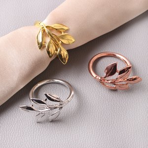 Casamento festa de guardanapo de guardanapo monstera guardanapo de guardanapo multifuncional clasp simples anel liga mesa decoração 100 pcs t1i3424 60 g2