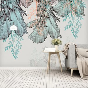 Custom Photo Wallpaper 3D Tropical Plant Leaves Murals Living Room Bedroom Home Decor Wall Painting Papel De Parede Wall Papers