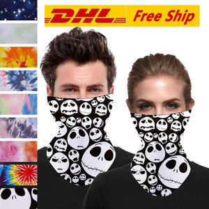 DHL Halloween Skeleton Face Scarf Joker Headband Balaclavas Skull Masquerade Masks for Ski Motorcycle Cycling Fishing Outdoor Sports FY6099