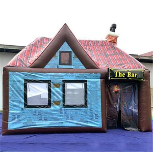 5x5m eye catching PVC bar inflatable pub tent concession stands vip room Irish Club booth with heatsealing roof better waterproof effects
