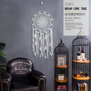 손으로 짠 태피스트리 그물 인디언 Dreamcatcher 홈 / 호텔 벽 장식 태피스 트리 여러 스타일 선택 밧줄 깃털 직조 DHE3399