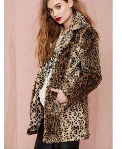 2020 Neue Pelzmantel Damen Faux Pelz Europäischen und amerikanischen Leopard Sexy Mantel Wild Faux Pelzmantel