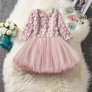 INS flower girls dresses for wedding lace kids dress Tutu girls dress princess dress formal dresses girls party dresses retail B2969