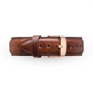 DROP Livraison Watchbands 20mm Hommes Femmes Ultra Slim Montre Marque avec bande de montre en cuir simple Bandes en acier inoxydable Livraison gratuite1
