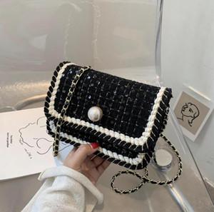 Sequins Flap Crossbody bag 2020 Fashion New High quality Wool Women's Designer Handbag Chain Shoulder Messenger Bag Travel