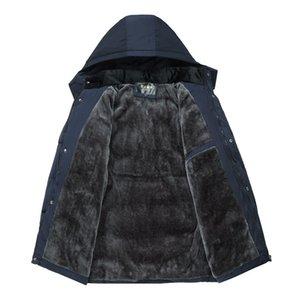 FAVOCENT Veste d'hiver Hommes Épaissir chaud hommes Parkas Manteau capuche Vestes en polaire homme Outwear coupe-vent Parka Jaqueta Masculina 201118