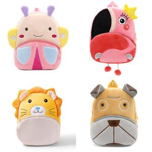 2020 3D Cartoon Plush kindergarten Schoolbag Animal Kids Backpack Children School Bags Girls Boys Backpacks Q1215