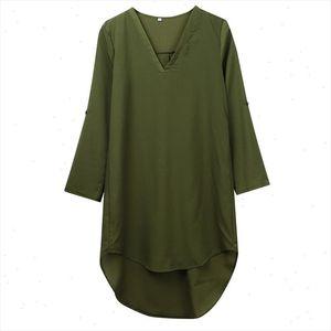 Woman Spring Autumn Sunscreen Blouse Long Sleeve Shirt Tops And Loose Fit Chiffon Top Mini Dress Casual Shirt Ladies