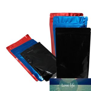 50Pcs Stand Up Aluminum Foil Zip Lock Tear Notch Self Seal Package Bag Zipper Reusable Tea Snacks Storage Bag