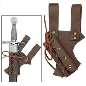 Medieval Leather Belt Sword Frog Holder Tactical Loop Holster Larp Cosplay Rapier Sheath Costume Gear Scabbard