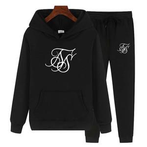 Nueva Sudaderas con capucha para mujer Sik Silk Traje Sudadera Pak Fleece Hoodie + Sweat Broek Jogging Trui 3xl Sporting Traje