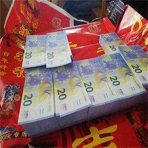 Grossiste Atmosphère NightClub LD9-5 20 Money accessoires Billet euro euro Vente de faux film faux 100pcs / pack jeu argent hot bar cbecd