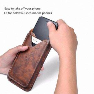 Ремень клип кожаный чехол для мобильного телефона Case Sports Travel Phone Storage Спортивная сумка подходит для большинства мобильных телефонов M45M #