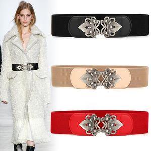 Woman Belts For Dress Genuine Leather waistband Wide Women cowhide cummerbunds Elastic Waist Accessories Stretch Coat Cummerbund