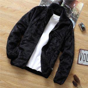 Plush thick coat for men autumn winter Korean version loose 2020 new men's wear youth casual fleece jacket for men
