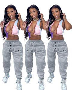 Designer lâche femmes pantalons droites automne hiver couleur solide streetwear mince pantalon long pantalon mode casual femmes pantalons