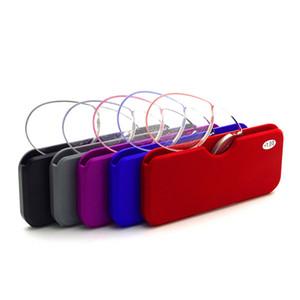 Portafoglio portatile portafoglio da lettura occhiali da lettura clip-naso occhiali da lettura frameless per gli uomini donne ultra-leggero mini didattico prepresbyopic