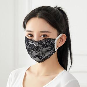 Dentelle Design Masquerade Masques de fête pour Femmes Girls Mode Adulte Couvercle Visage Réutilisable Protection anti-poussière lavable