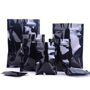 100 шт. / Лот многоразовые глянцевые алюминиевые фольги для хранения сумки для хранения молния плоская нижняя упаковка для кухни мелкие предметы запечатаны