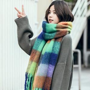 Plaid Scarves Women Winter Cashmere Scarf fashion long tassel blanket scarf shawls and wraps bufandas invierno mujer